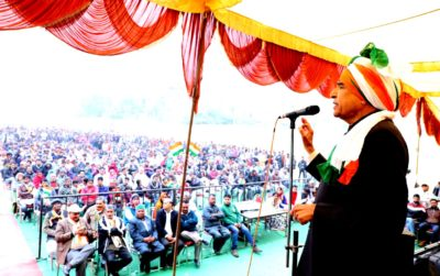 Pawan Kumar Bansal stresses beds of a strong governance in Chandigarh on the 69th Republic Day
