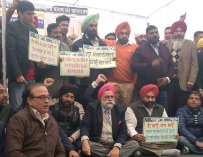 Demanding VAT parity, Punjab petrol pump dealers go on indefinite hunger strike