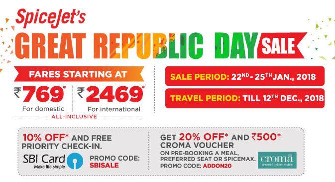 SpiceJet unveils its 'Great Republic Day Sale!