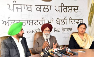 Would spare no effort to connect youth with Punjabi language : Dr. Surjit Patar