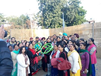 Mayor inaugurates open air gym at sector 43 park