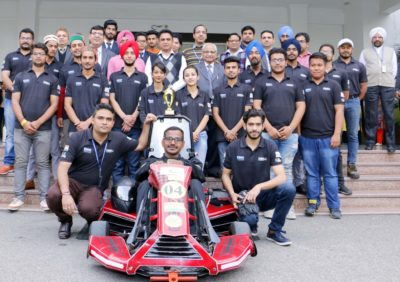 CGC Jhanjeri Students excel  All India Go Kart Design Challenge