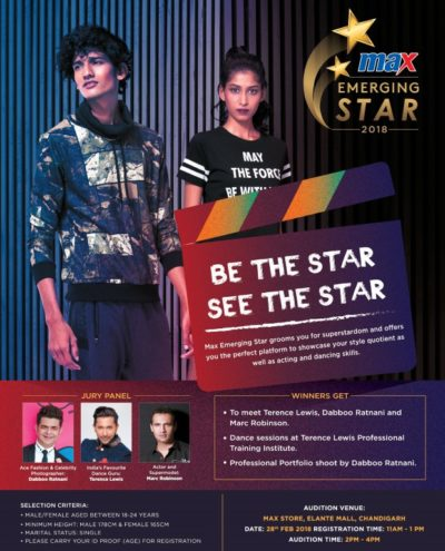 Max Fashion India presents 'Max Emerging Star 2018'