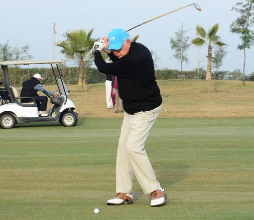Dr. Farooq Abdullah plays golf at The Imperial Golf Estate
