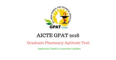 GPAT 2018 result announced at aicte-gpat.in