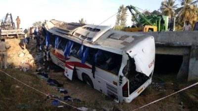 7 killed, 25 injured in Bus Accident in Bihar
