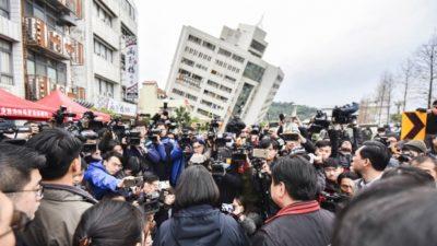 4 killed, 85 missing in Taiwan earthquake