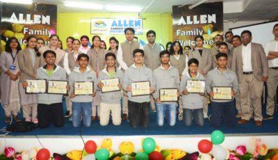 Allen felicitates NTSE, IESO Achievers