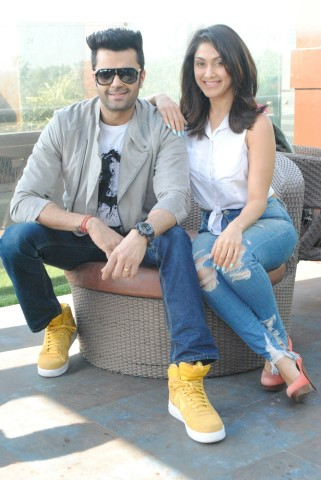 Manish Paul and Manjari Fadnnis Ba Ba Black Sheep Visited Chandigarh