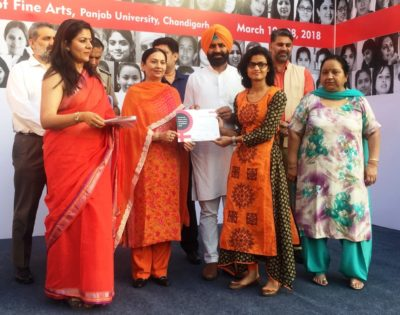 Education Minister Aruna Chaudhary inaugurates 7th All India Women Artists Contemporary Art Exhibition 2018