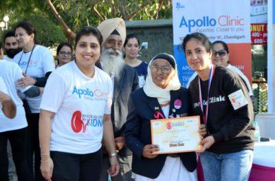 "Apollo Clinic Chandigarh organised a Walkathon ""Krack Kilometres for Kidney"""