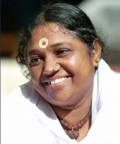 Sri Mata Amritanandamayi Devi (Amma) in Chandigarh on March 18