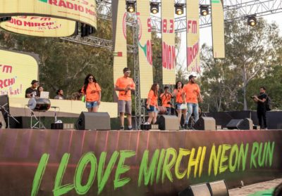 Mirchi Neon Run, the fun sports event that set the city aglow