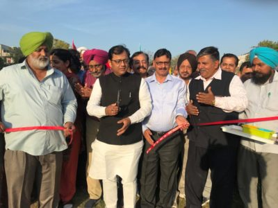 Mayor inaugurates open air gyms at sector 47 & 48